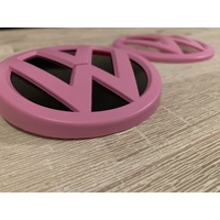 VW Golf MK7 Front & Rear Emblem Badge - (2013-2017) - Matte Pink