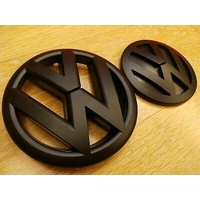 VW Golf MK5 GTI Front & Rear Emblem Badge - (2004-2009) - Matte Black